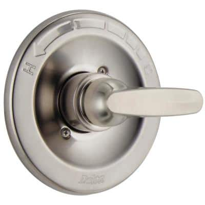 Foundations 1-Handle Wall-Mount Valve Trim Kit in Stainless (Valve Not Included)