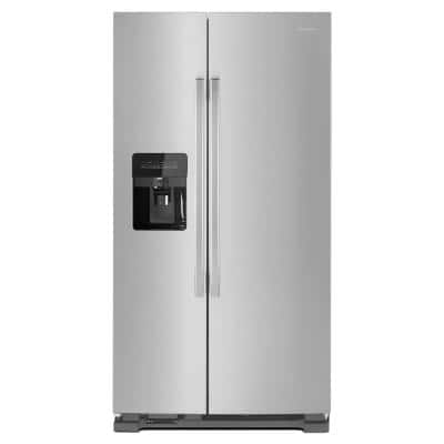 21.4 cu. ft.  Side by Side Refrigerator in Stainless Steel
