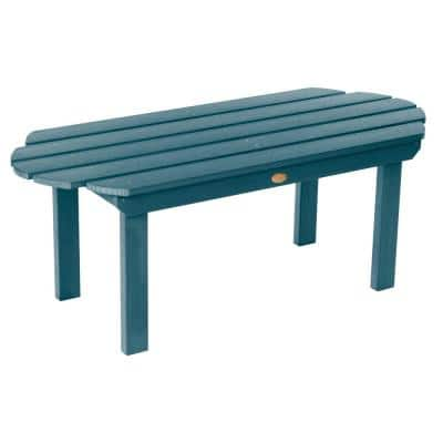 Classic Westport Nantucket Blue Rectangular Recycled Plastic Outdoor Coffee Table