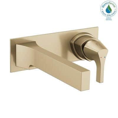 Zura Single-Handle Wall Mount Bathroom Faucet Trim Kit in Champagne Bronze (Valve Not Included)