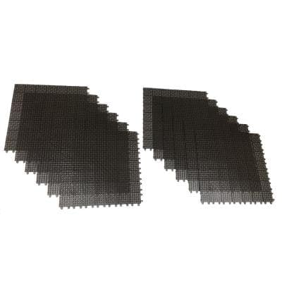 Brown Regenerated 22 in. x 22 in. Polypropylene Interlocking Floor Mat System (Set of 12 Tiles)