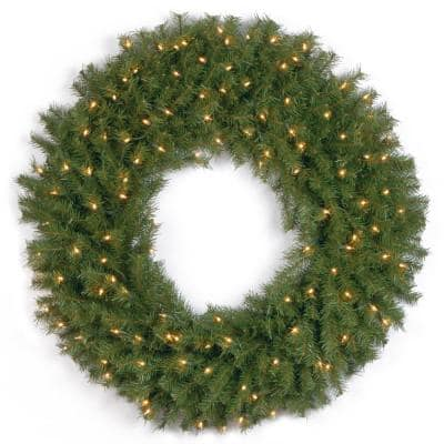 36 in. Norwood Fir Artificial Wreath with Clear Lights