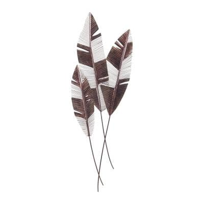 Martinique Metal in Bronze Leaf Wall Decor (Set of 3)