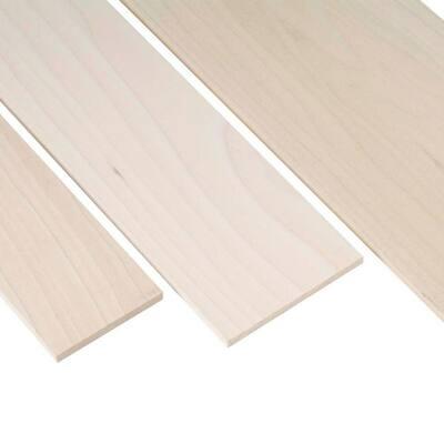 1 in. x 2 in. x 3 ft. Poplar Project Board