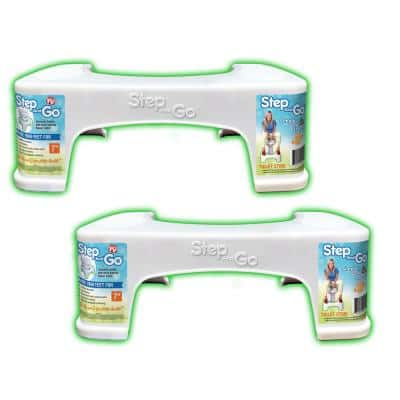7 in. Toilet Potty Aid in White (2-Pack)