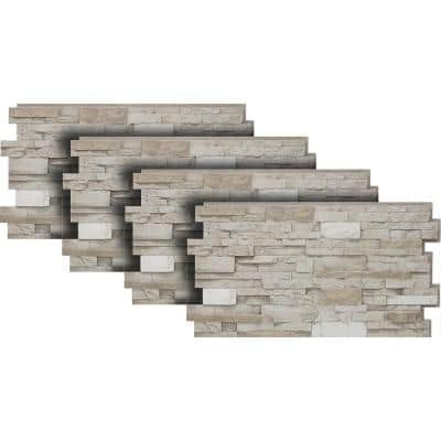24 in. x 48 in. Stacked Stone in Almond Taupe (4-Pack)
