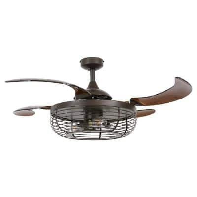 Carbondale 48 in. Integrated LED Oil Rubbed Bronze and Amber Ceiling Fan with-Light