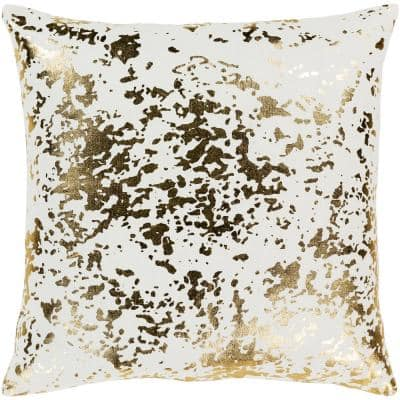 Lochana Gold Graphic Polyester 18 in. x 18 in. Throw Pillow