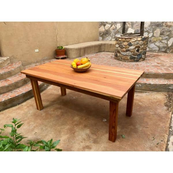 Best Redwood Farmhouse 5 Ft Redwood Outdoor Dining Table Fdt 31h38w60l 1910 The Home Depot