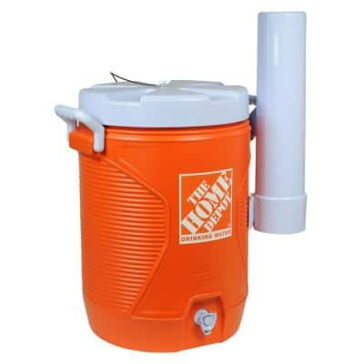 5 Gal. Orange Water Cooler with Cup Dispenser
