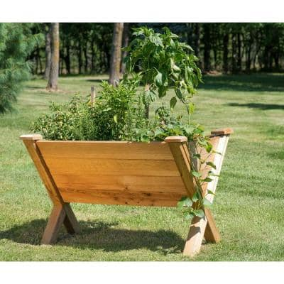 48 in. x 30 in. Rustic Cedar Modular Eco Wedge Planter