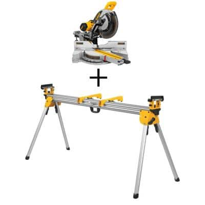 15 Amp Corded 12 in. Sliding Miter Saw with Bonus Heavy-Duty Miter Saw Stand