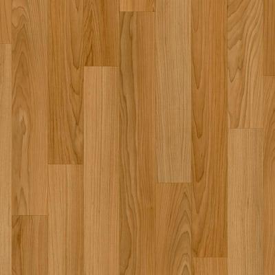 Oak Strip Butterscotch Wood Residential Vinyl Sheet Flooring 12ft. Wide x Cut to Length
