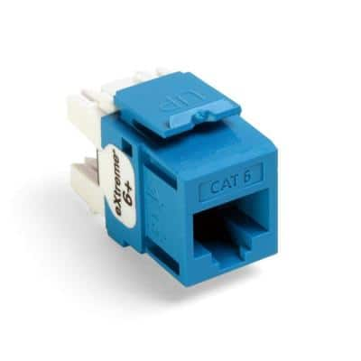QuickPort Extreme CAT 6 Connector with T568A/B Wiring, Blue
