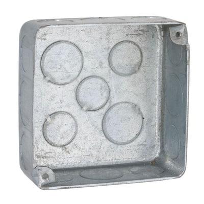 4 in. Square Plenum Box, Drawn, 1-1/2 in. Deep (50-Pack)