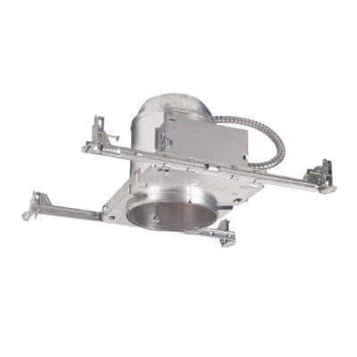 H7 6 in. Aluminum Recessed Lighting Housing for New Construction Ceiling, Insulation Contact