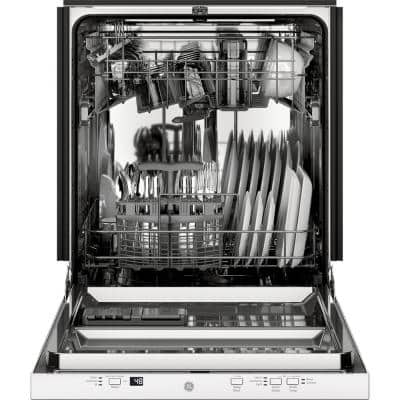 24 in. in White Top Control Built-In Tall Tub Dishwasher with Stainless Steel Tub and 51dBA