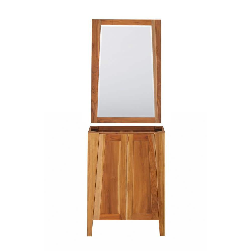 Ecodecors Significado 24 In L Natural Teak Vanity Only With 24 In L X 35 In H Mirror St Bt 24 1 M1 The Home Depot