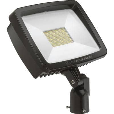 Contractor Select TFX3 188-Watt Dark Bronze Slipfitter Mount Outdoor Integrated LED Flood Light 4000K