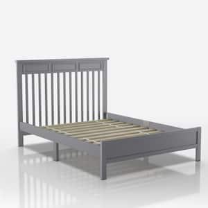 Yalena Gray with Slats Transitional Full Bed