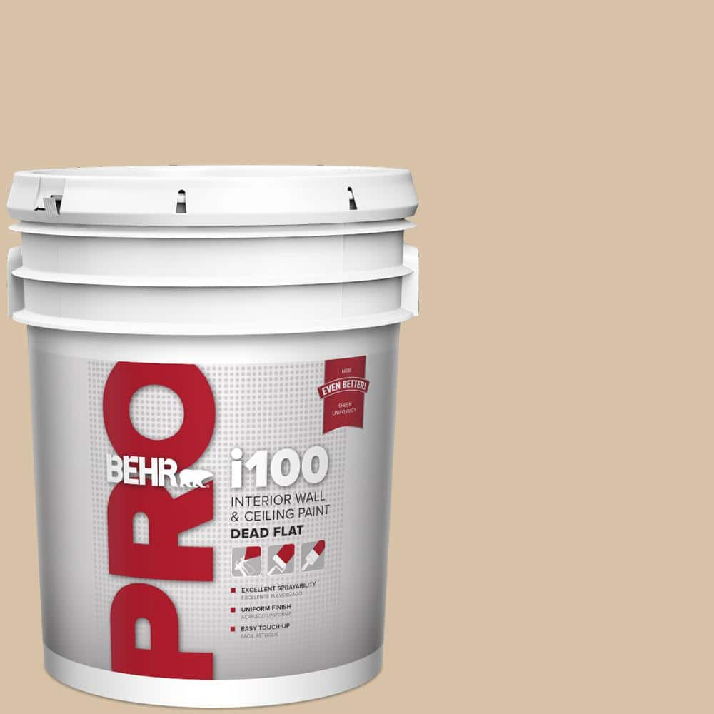 Behr Pro 5 Gal Hdc Ct 06 Country Linens Dead Flat Interior Paint Pr10505 The Home Depot