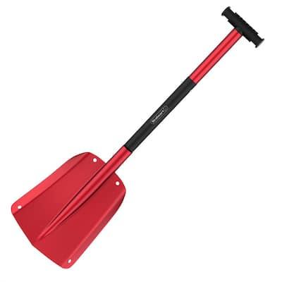 Telescoping Snow Shovel in Red