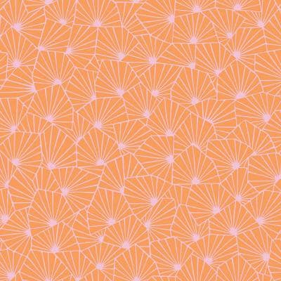 Blomma Orange Geometric Paper Strippable Roll Wallpaper (Covers 57.8 sq. ft.)