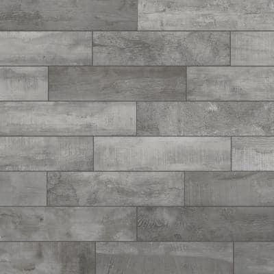 Wind River Grey 6 in. x 24 in. Porcelain Floor and Wall Tile (14 sq. ft. / case)