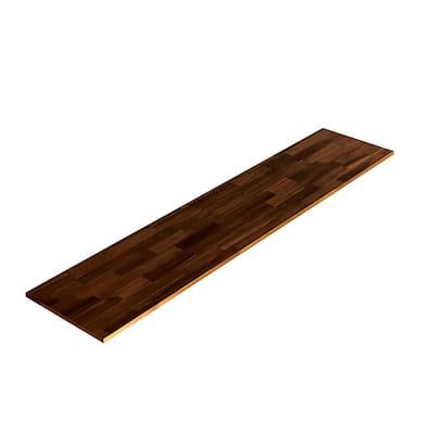 3/4 in. x 16 in. x 6 ft. Acacia Square Edge, Select Appearance Board, Espresso