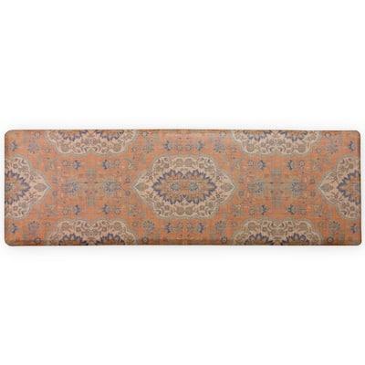 Orange Persepolis 60 in. x 20 in. Anti-Fatigue Comfort Long Mat