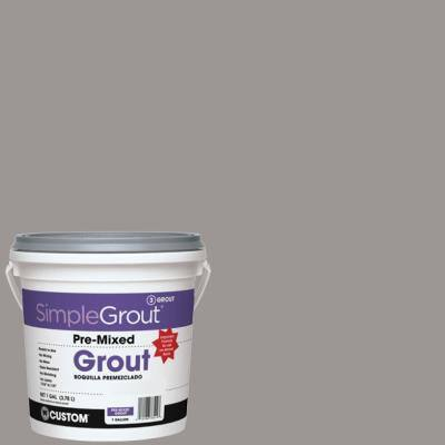 SimpleGrout #165 Delorean Gray 1 Gal. Pre-Mixed Grout