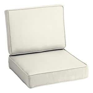 ProFoam 24 in. x 24 in. Sand Acrylic 2-Piece Deep Seating Outdoor Lounge Chair Cushion