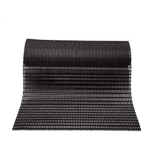Barepath Black 3 ft. x 30 ft. PVC Safety and Comfort Rug Runner