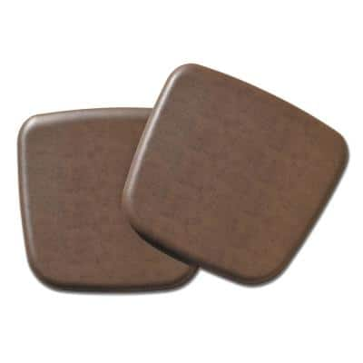 Complete Comfort Rustic Brown Vintage Leather Seat Cushion (Set of 2)