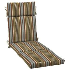 21 x 72 Southwest Toffee Stripe Outdoor Chaise Lounge Cushion