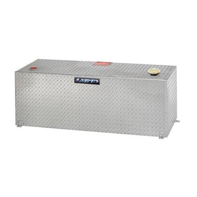 50 Gal. Aluminum Vertical Liquid Storage Transfer Tank, Silver