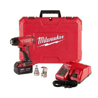 M18 18-Volt Lithium-Ion Cordless Compact Heat Gun Kit W/(1) 5.0Ah Batteries, Charger, Hard Case