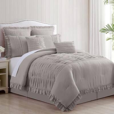 8-Piece Comforter Sets Antonella Silver King