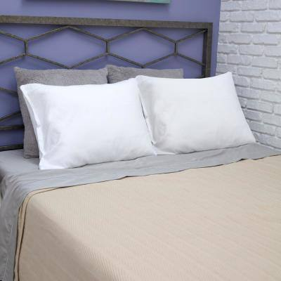Fresh and Clean Ultra-Fresh Antimicrobial Treated Fabric Polyester Jumbo Pillow Protector Pair