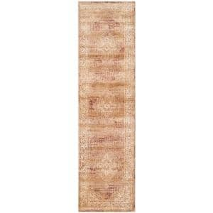 Vintage Taupe 2 ft. x 10 ft. Border Runner Rug