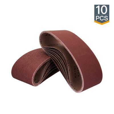 3 in. x 18 in. 400-Grit Aluminum Oxide Sanding Belt (10-Pack)
