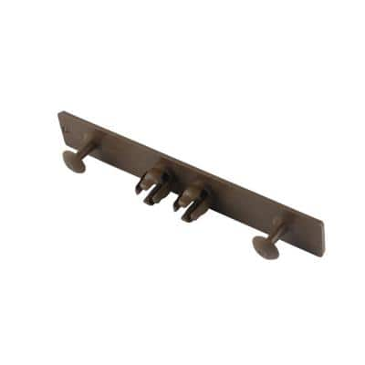 1 in. x 5.5 in. x 16 ft. UltraShield Spanish Walnut End Cap for Composite Decking Boards (10-per Bag)