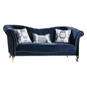 Homeroots Amelia 55 In Gray Velvet 3 Seater English Rolled Arm Sofa 348646 The Home Depot