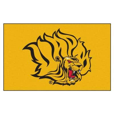 NCAA University of Arkansas at Pine Bluff Gold 5 ft. x 8 ft. Area Rug