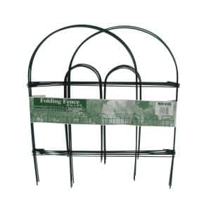 Glamos Wire 18 in. Folding Fence Green (12-Pack)