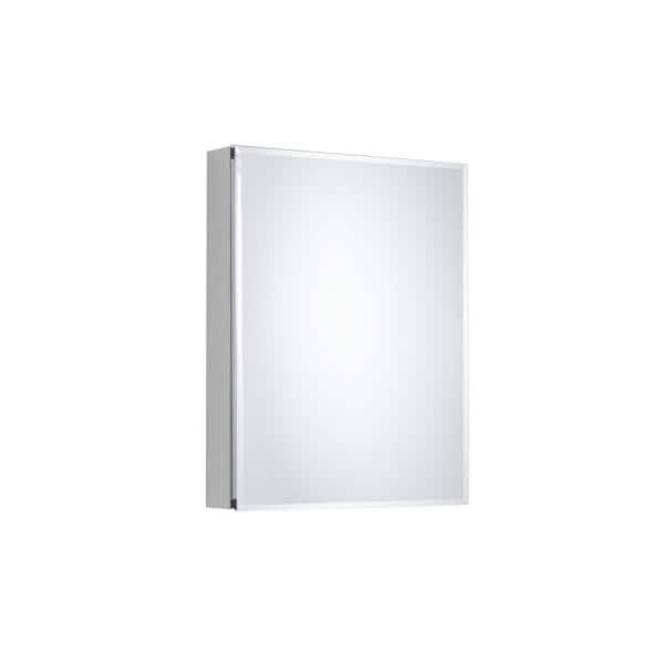 Pegasus 20 In X 26 In Recessed Or Surface Mount Bathroom Medicine Cabinet With Beveled Mirror In Silver Sp4581 The Home Depot