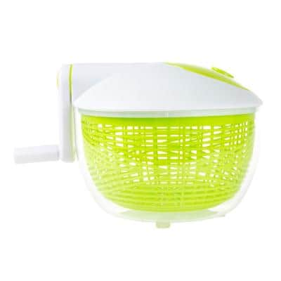 Salad Spinner with 3.5 Qt. Strainer and Serving Bowl