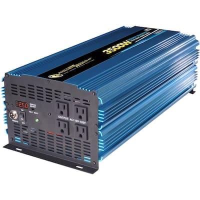 12-Volt DC to AC 3500-Watt Power Inverter