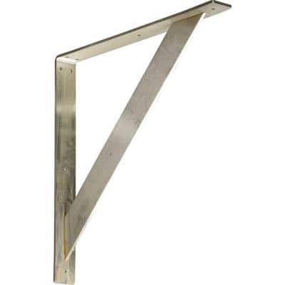 18 in. x 2 in. x 18 in. Stainless Steel Unfinished Metal Traditional Bracket