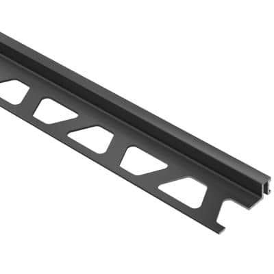 Dilex-BWA Black 3/8 in. x 8 ft. 2-1/2 in. PVC Movement Joint Tile Edging Trim
